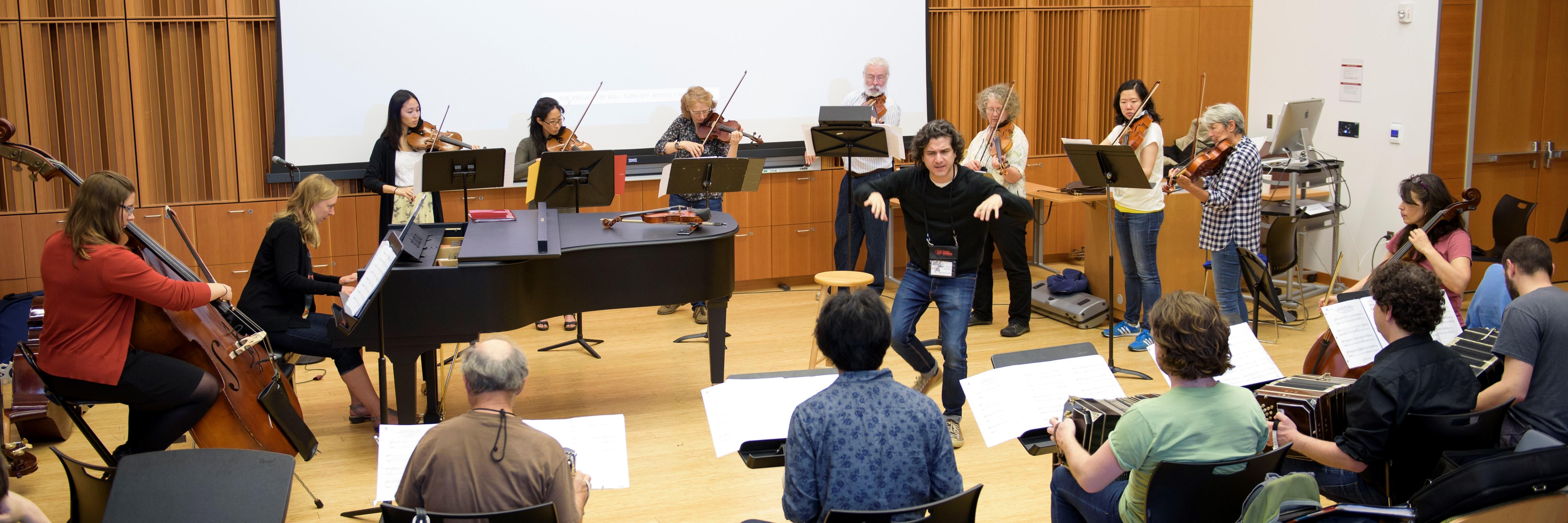 Orquesta Típica rehearsal