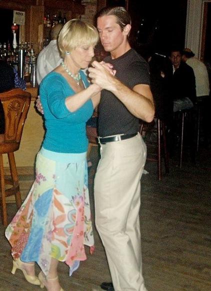 Evelyn dancing tango